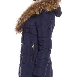 Mackage Jackets & Coats - Mackage Fur Trim Short Coat Dark Blue XS